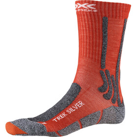 X-Socks Trek Silver Chaussettes Homme, crimson red/dolomite grey